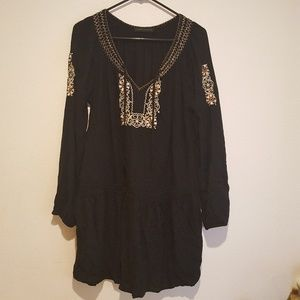 Sanctuary tunic top, no size tag, black
